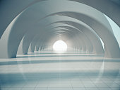 Abstract structure,Product showcase background,Long tunnel.3D rendering