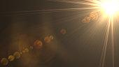Abstract digital sun