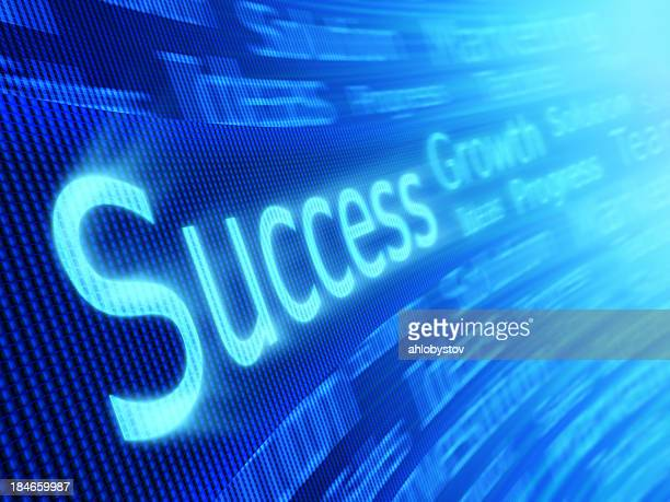 Abstract technological success concept in blue