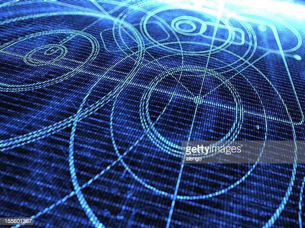 Abstrakte Technologie-Hintergrund