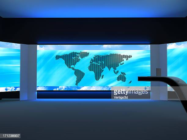 Abstract television studio