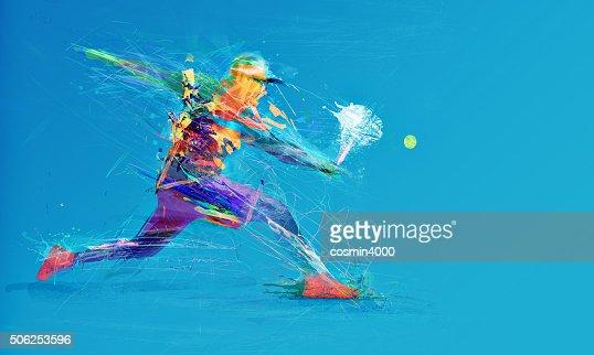 Abstrato Jogador de ténis : Foto de stock