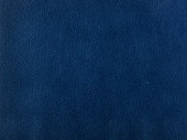 Abstract texture of synthetic leather, blue background.