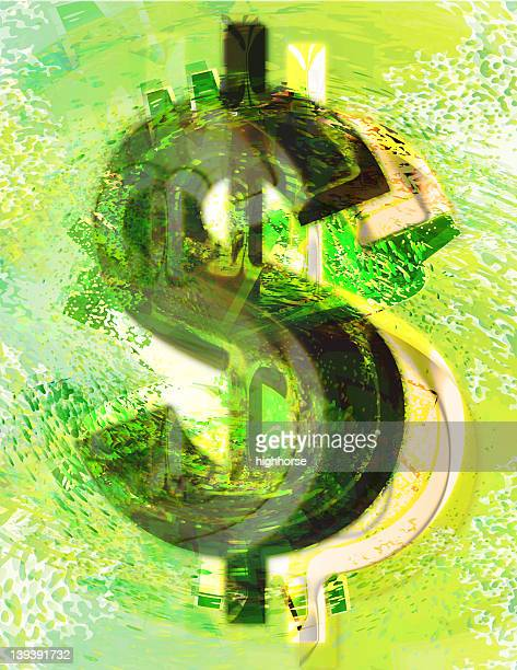 Abstract Textured Dollar Sign