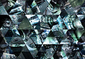 Abstract triangle mosaic background: Industrial machine