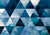 Abstract triangle mosaic background: Mountains
