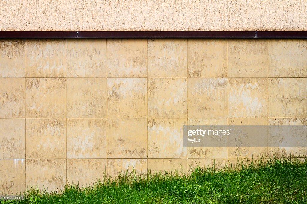 Abstract urban brown tile wall : Foto de stock