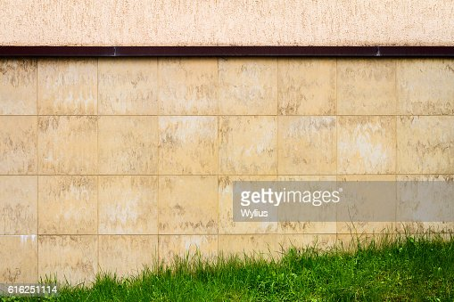 Abstract urban brown tile wall : Stock Photo