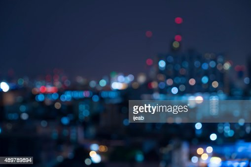Abstract urban night light bokeh , defocused background : Stock Photo