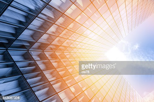 Abstract view of a skyscraper : Stock Photo