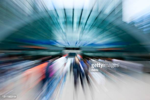 Abstract View of People Entering Subway Station
