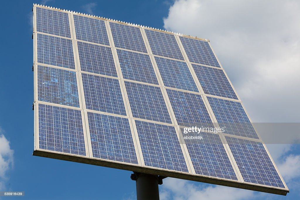 Abstract view of solar panel : Stock Photo
