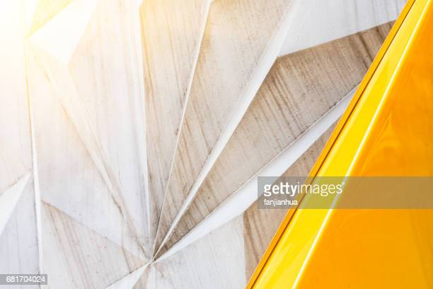 abstract wall with polygonal pattern