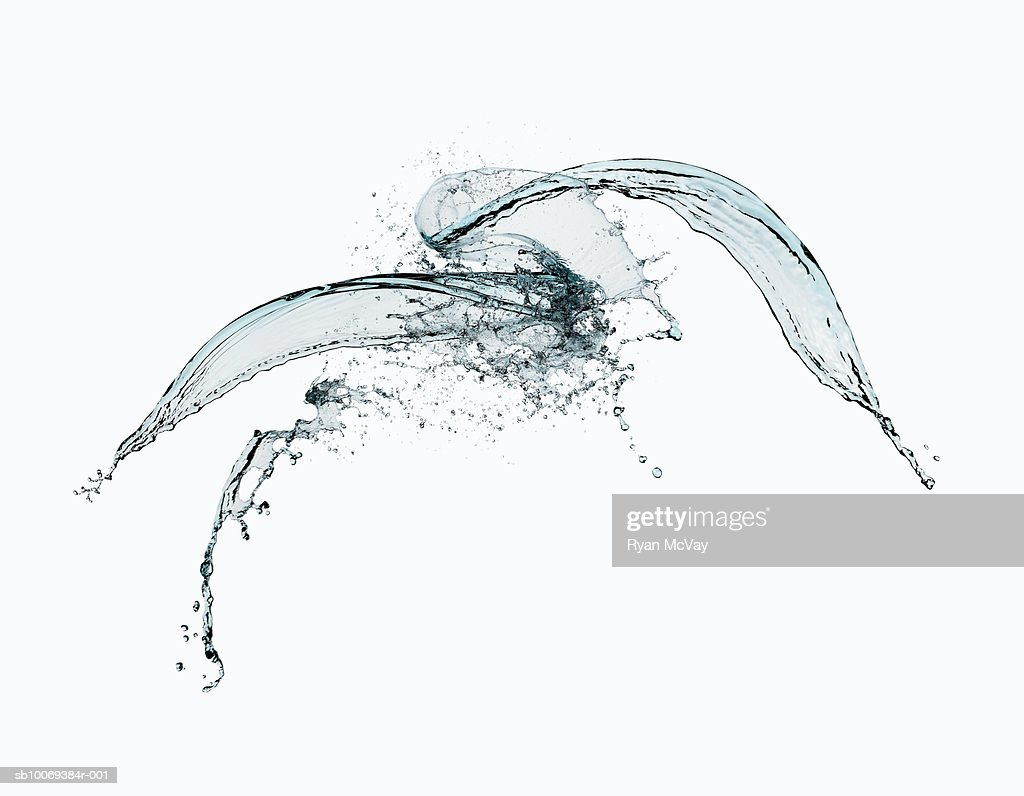 Abstract water splash on white background : Stock Photo