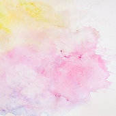 Abstract watercolor background, texture in Delicate shades of spring colors on white paper
