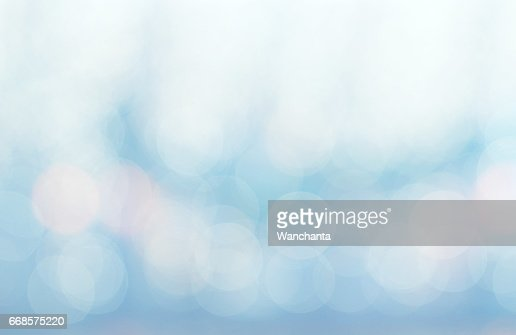 Abstract white blue and pink colors blurred bokeh light : Stock Photo