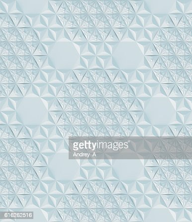 Abstract white seamless modern low poly background 3d rendering : Stock Photo