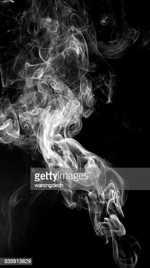 Abstract white smoke on black background. : Stock Photo
