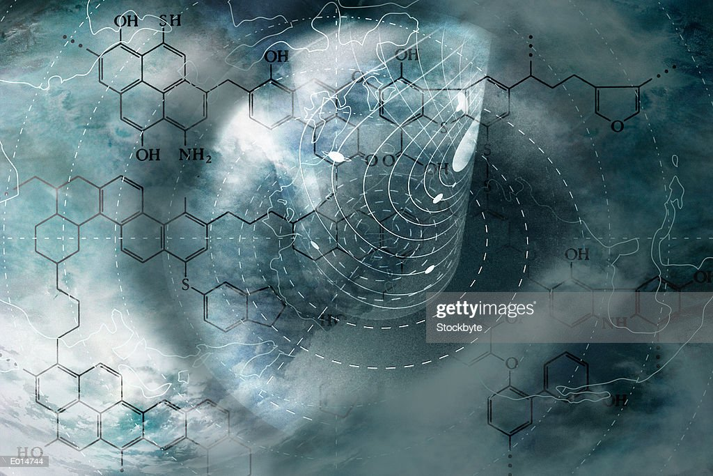Abstract with element chart : Stock Photo
