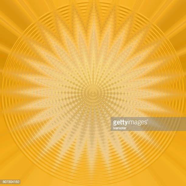 Abstract Yellow Gold Background Starburst