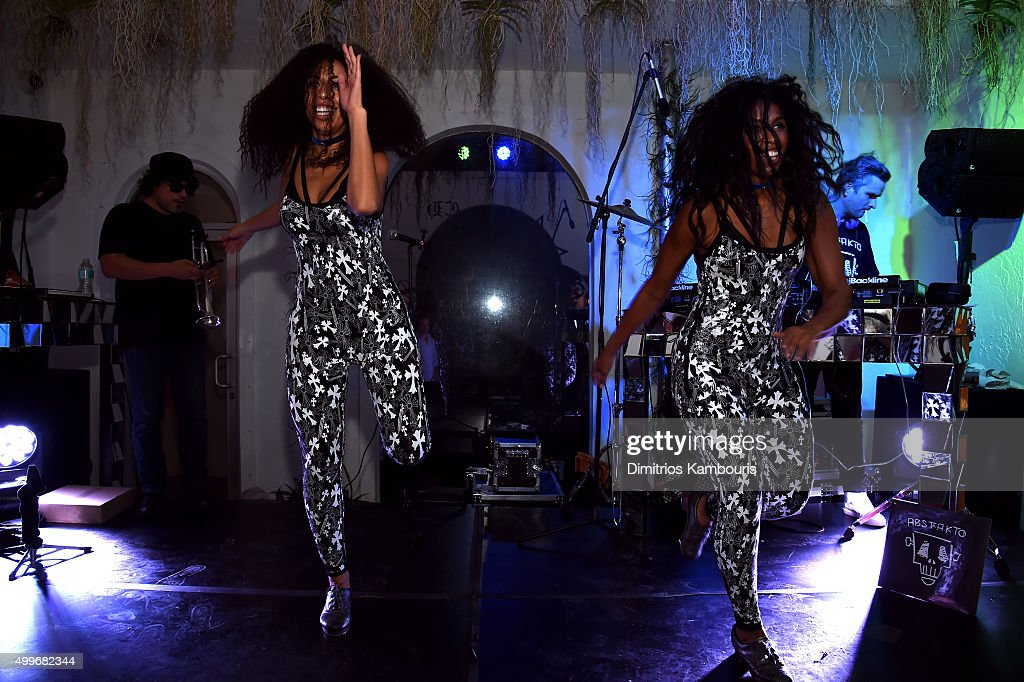 Abstrakto performs at Chrome Hearts Celebrates Art Basel With Laduree Sean Kelly And A Live Performance By Abstrakto at Miami Design District on...