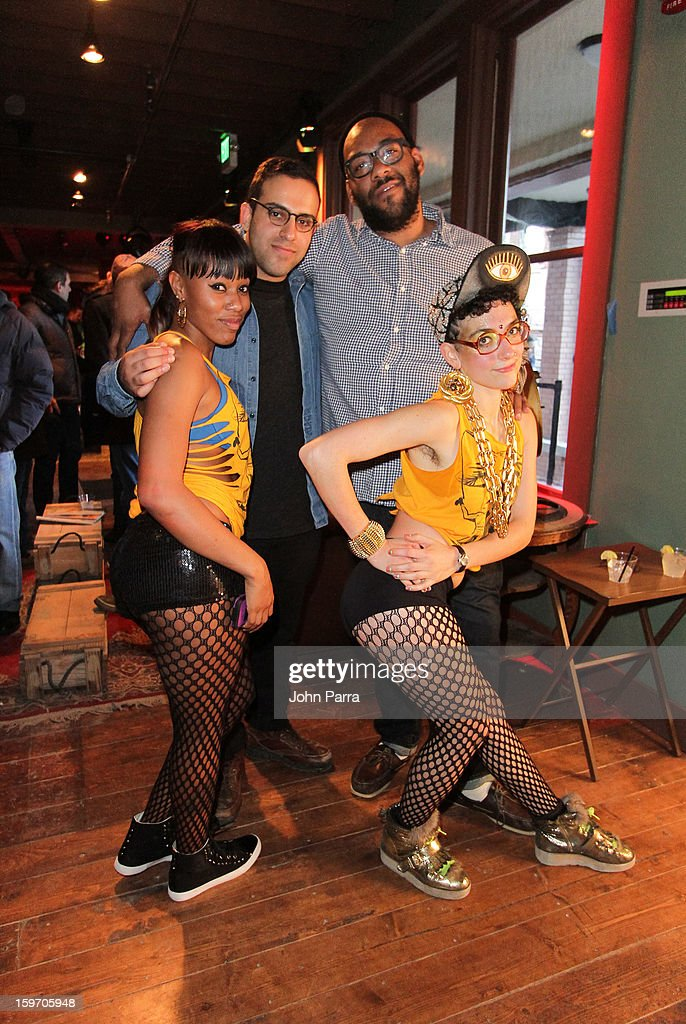 Abteen Bagheri and Nicky Nab dancers attend the Nokia Music, SPIN, Sundance Channel and SomeSuch & Co Present New American Noise on January 18, 2013 in Park City, Utah.
