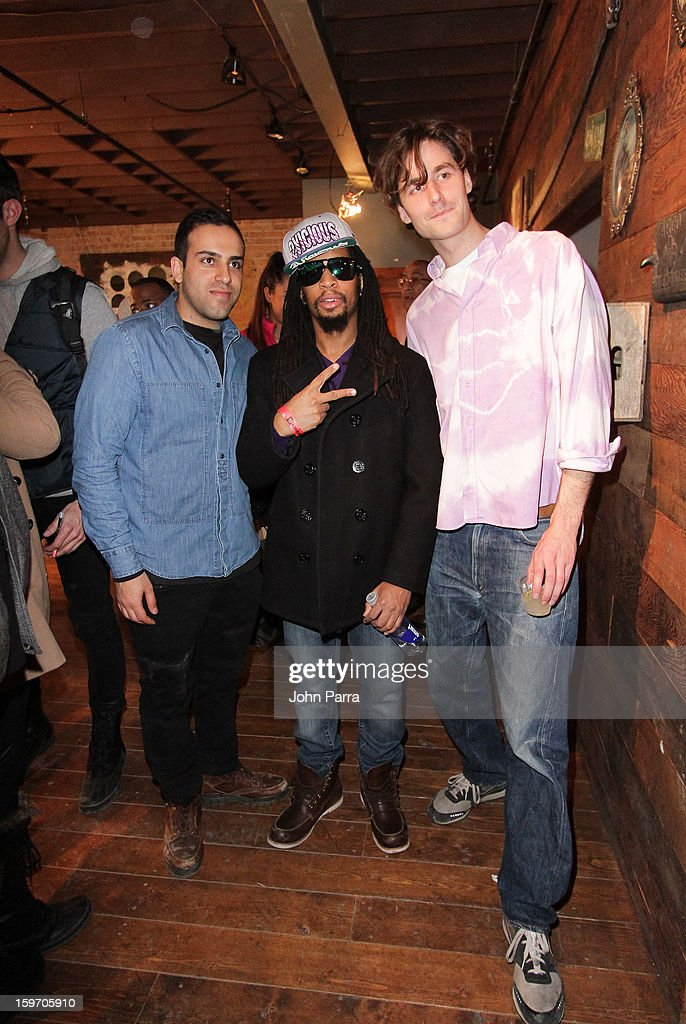 Abteen Bagheri, Lil Jon and Tyrone Lebon attend the Nokia Music, SPIN, Sundance Channel and SomeSuch & Co Present New American Noise on January 18, 2013 in Park City, Utah.