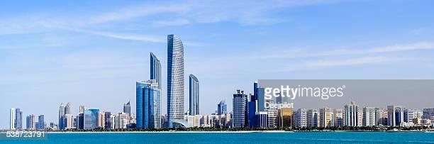 Panorama de la ville d'Abou Dhabi, Émirats arabes unis