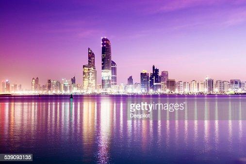Abu Dhabi City Skyline United Arab Emirates