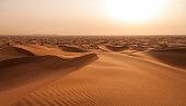 Wüste, Sanddüne, Dubai, Sandig, Sonnenuntergang