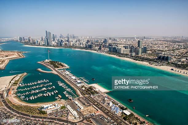 Abu Dhabi depuis un hélicoptère