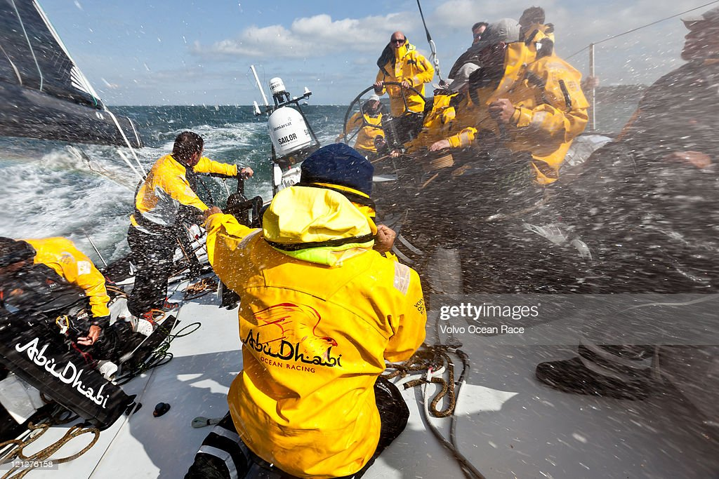 Abu Dhabi Ocean Racing team training prior to the start of the Volvo Ocean Race 2011-12.