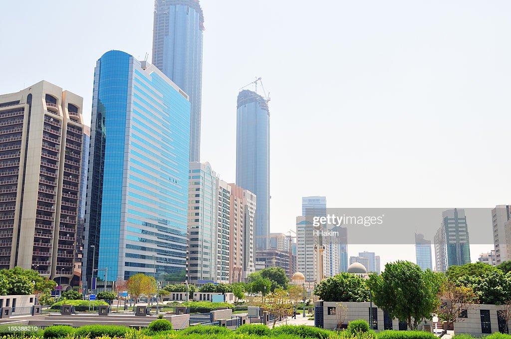Abu Dhabi skyline : Stock Photo