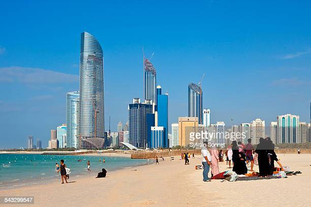Abu Dhabi, the Corniche, the public beach