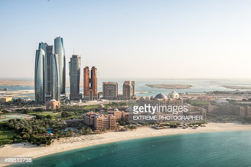 Abu Dhabi viewed from the air