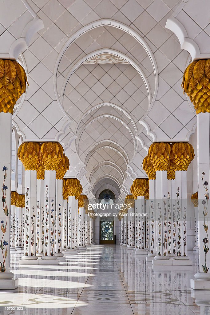 Abu Dhabis Sheikh Zayed Mosques Arches Stock Photo Getty
