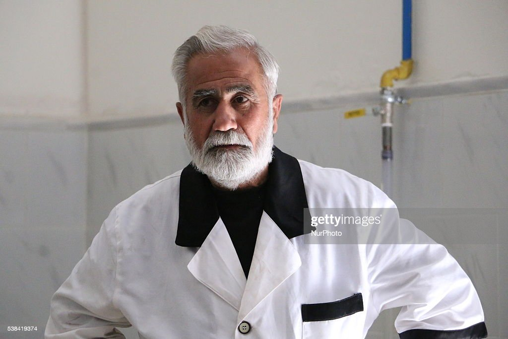 Abu Saeed at the age of 50 years running one of the charity kitchens during Ramadan Mubarak's Abu Saeed big man age he worked before the war on the...