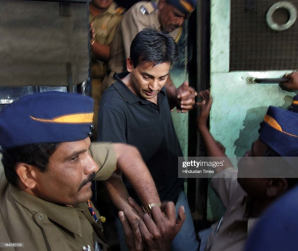 Abu Salem being taken to Arthur Road jail after he was remanded to judicial custody in the 1993 Mumbai bomb blast case till December 7 by special TADA court on November 23, 2005 in Mumbai, India. On March 21, 2013 after 20-year-long judicial proceedings in 1993 Mumbai Serial Bomb Blasts Case, Supreme Court upheld the death sentence of Yakub Abdul Razak Memon, a key conspirator with Dawood Ibrahim in the 1993 Mumbai serial blasts, and ordered that Bollywood actor Sanjay Dutt return to jail to serve three-and-a-half years sentence for possessing illegal arms. 257 people were killed in serial blasts in Mumbai on March 12, 1993.