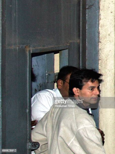 Abu Salem coming out of TADA court after being remanded for judicial custody for two days on Tuesday