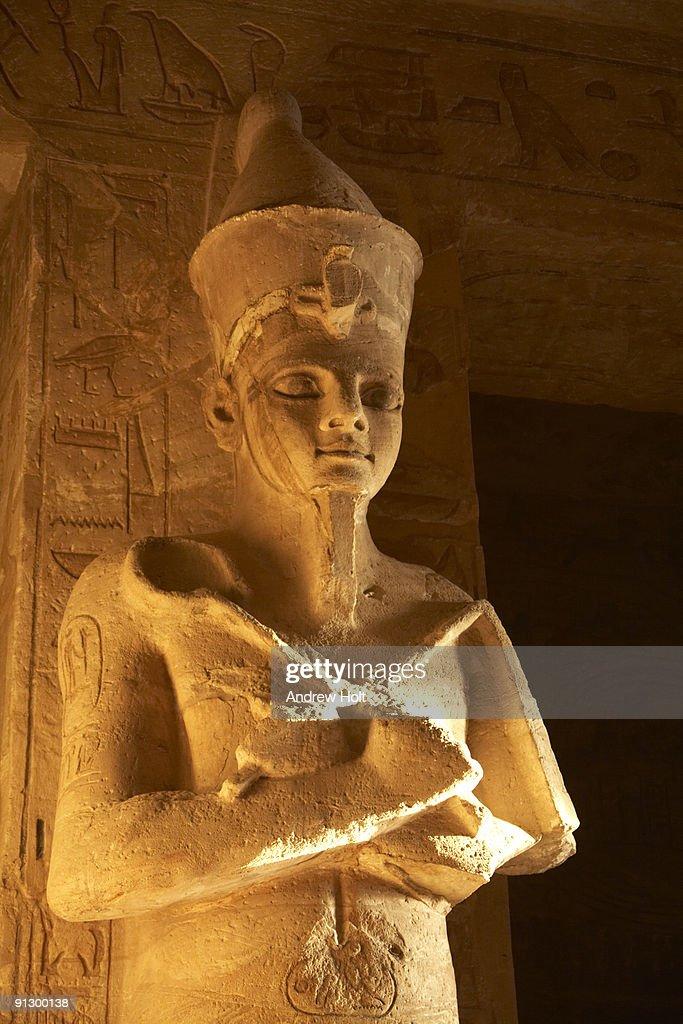 Abu Simbel interior statue of Ramses II