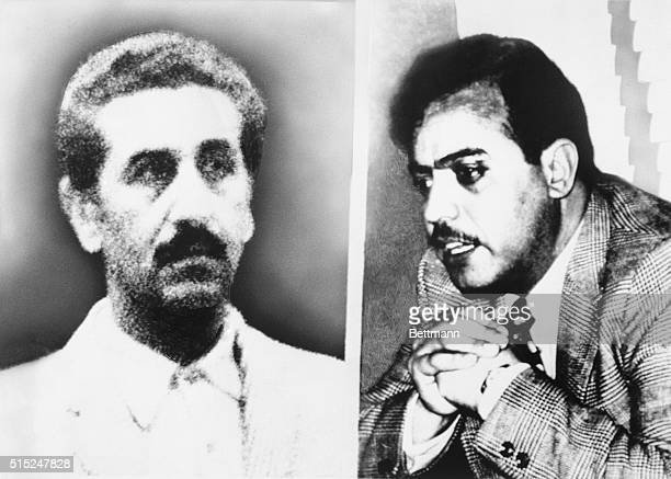 Abu Youssef and Kamal Adwan shown in undated filers were two of three Arab guerrilla leaders killed early 4/10 during Israeli raid here The raid came...