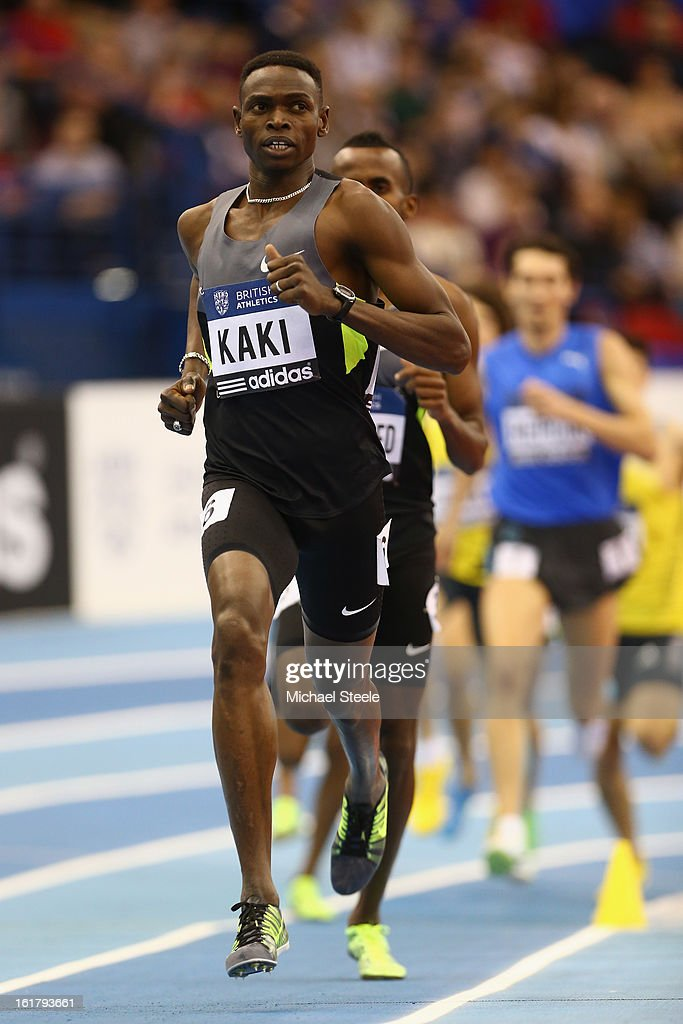 Abubaker Kaki of Sudan in the men's 800m during the British Athletics Grand Prix at the National Indoor Arena on February 16, 2013 in Birmingham, England.