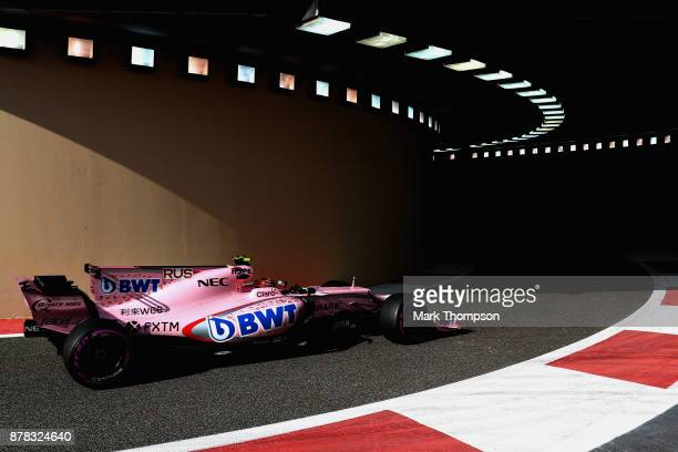 ABUGeorge Russell of Great Britain driving the Sahara Force India F1 Team VJM10 on track during practice for the Abu Dhabi Formula One Grand Prix at...