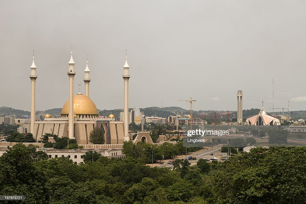 Abuja city of mixed religion : Stock Photo