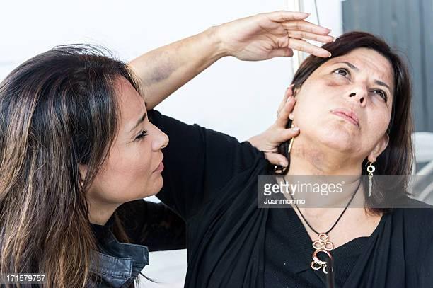 Abusé femme hispanique