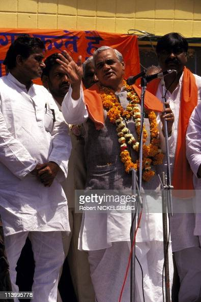 Vajpayee Senior BJParty Leader In India On April 08 1996