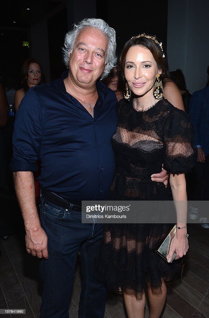 Aby Rosen and Samantha Boardman attend the celebration of Dom Perignon Luminous Rose at Wall at W Hotel on December 6, 2012 in Miami Beach, Florida.
