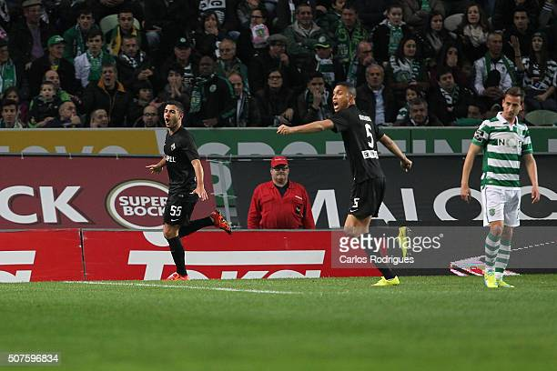 Academica's defender Rafa Soares during the match between Sporting CP and A Academica de Coimbra for the Portuguese Primeira Liga at Jose Alvalade...