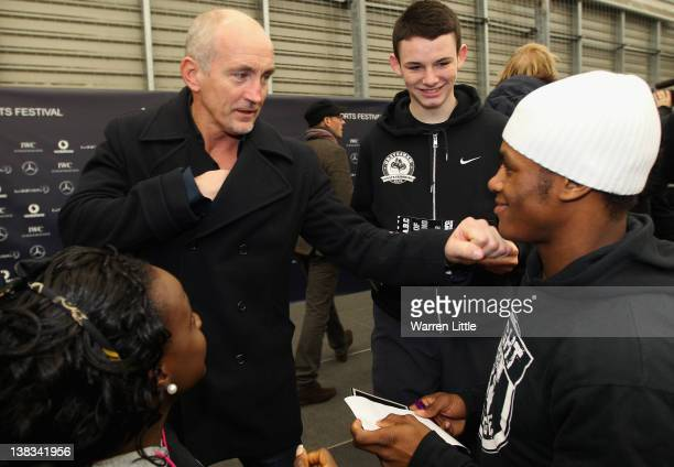 Academy Ambassador Barry McGuigan attends the Laureus Sport for Good Youth Festival at Millwall Football Club's Lions Centre ahead of the 2012...
