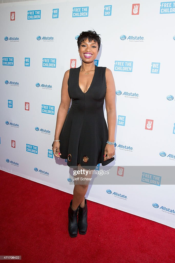 Academy¨ and GRAMMY¨ award-winning actress and musician and co-founder of the Julian D. King Gift Foundation and national co-chair of We Day, <a gi-track='captionPersonalityLinkClicked' href=/galleries/search?phrase=Jennifer+Hudson&family=editorial&specificpeople=234833 ng-click='$event.stopPropagation()'>Jennifer Hudson</a> walks the We Day Red Carpet at We Day Illinois 2015 at Allstate Arena on April 30, 2015 in Chicago, Illinois. (Photo by Jeff Schear/Getty Images for We Day).